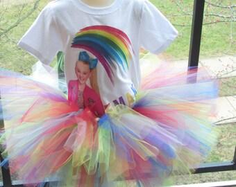 146fa3ea4f Rainbow tutu/jojo siwa themed/ Birthday tutu