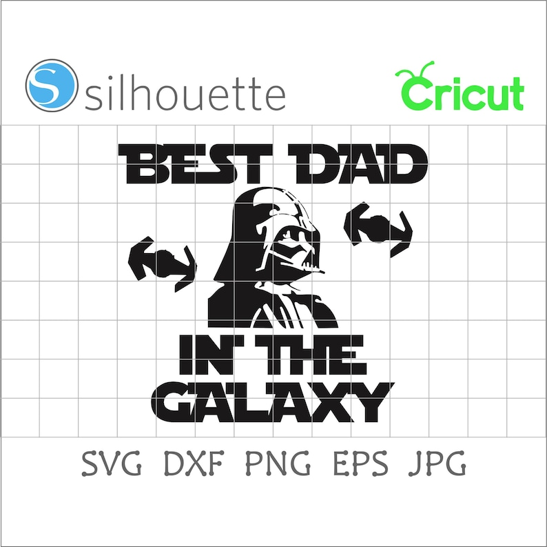 Free Best Dad In The Galaxy Svgstar Warsfather S Day Etsy SVG, PNG, EPS DXF File