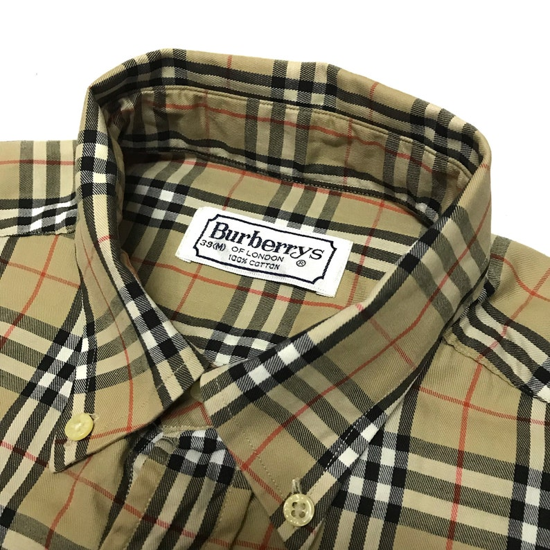 f495b34e466 Vintage Burberrys Burberry Nova Checked Style Long Sleeve Wear | Etsy