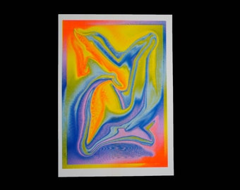 fluent landscape risograph print