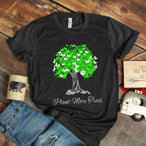 Earth Day Treehugger Distressed Ladies Organic City Green T-Shirt