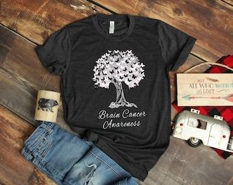 d7c86e9d Brain Cancer T-Shirt / Brain Tumor / Brain Tumor Survivor / Tumor Awareness  / Brain Cancer Gift / Brain Cancer Support / Brain Cancer Tee