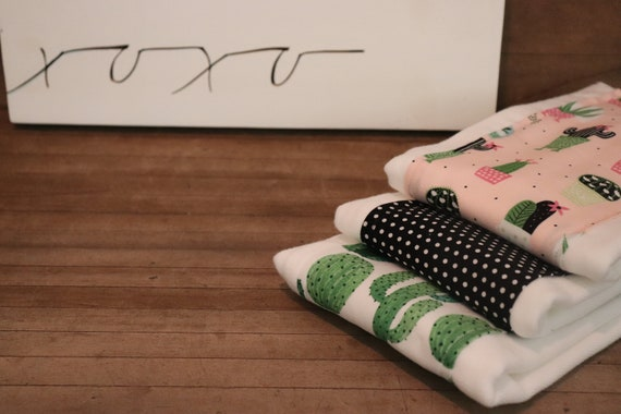 Set of 3 Baby Girl Boy Polka Anchor Cloth Diaper Burp Rags 100/% Cotton Brand NEW