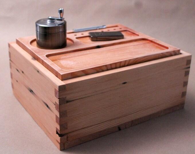 Pre 1916 Reclaimed Douglas Fir Stash Box, Wood Rolling Tray, Smoking Accessories, Cannabis Stash Box, Marijuana Storage stashbox