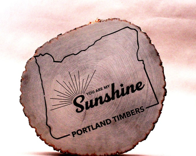 You Are My Sunshine, Wall Hanging, Portland Timbers, Wood Log, Sunshine, Wooden Wall Hanging
