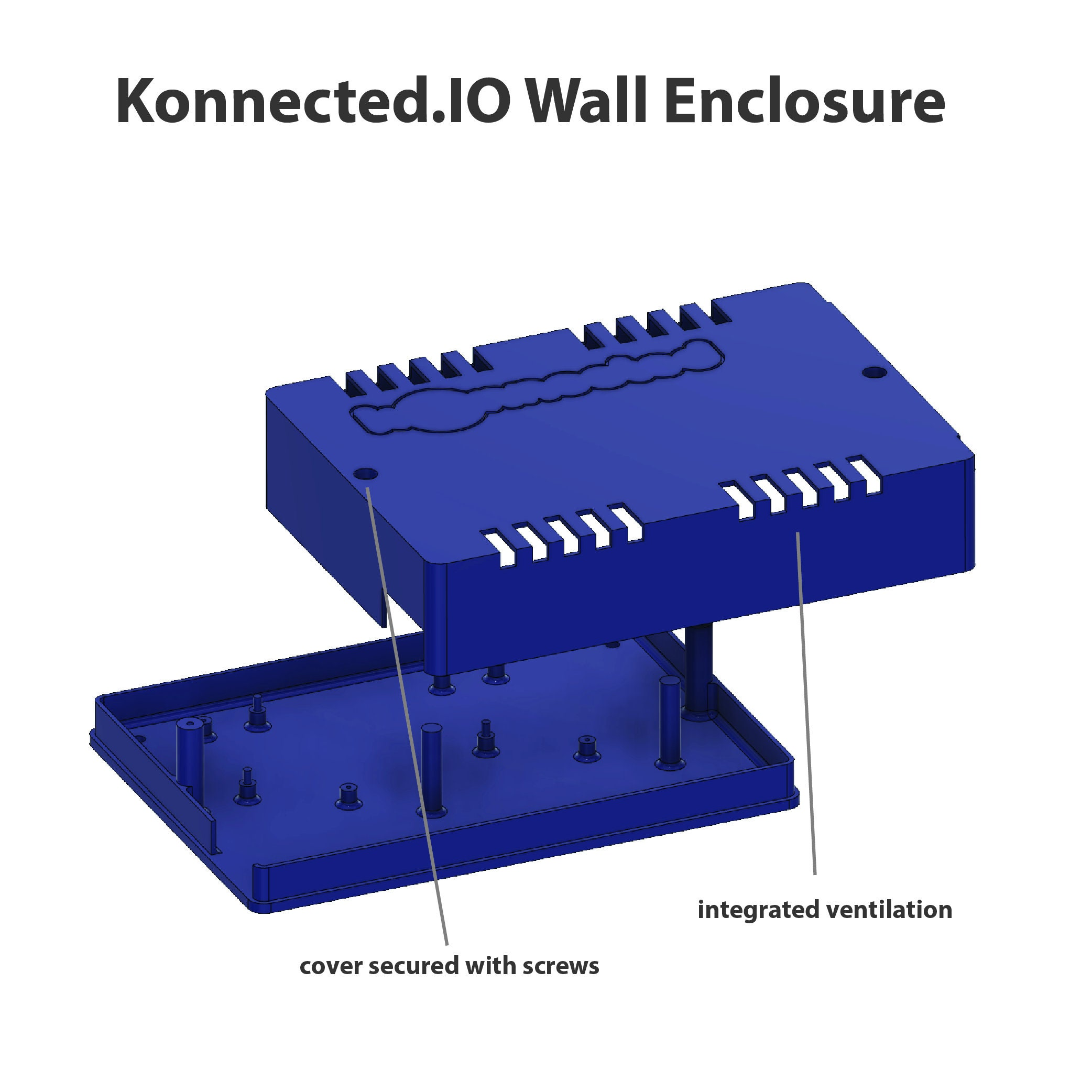 Konnected IO Wall Enclosure - 1, 2 or 3 Module