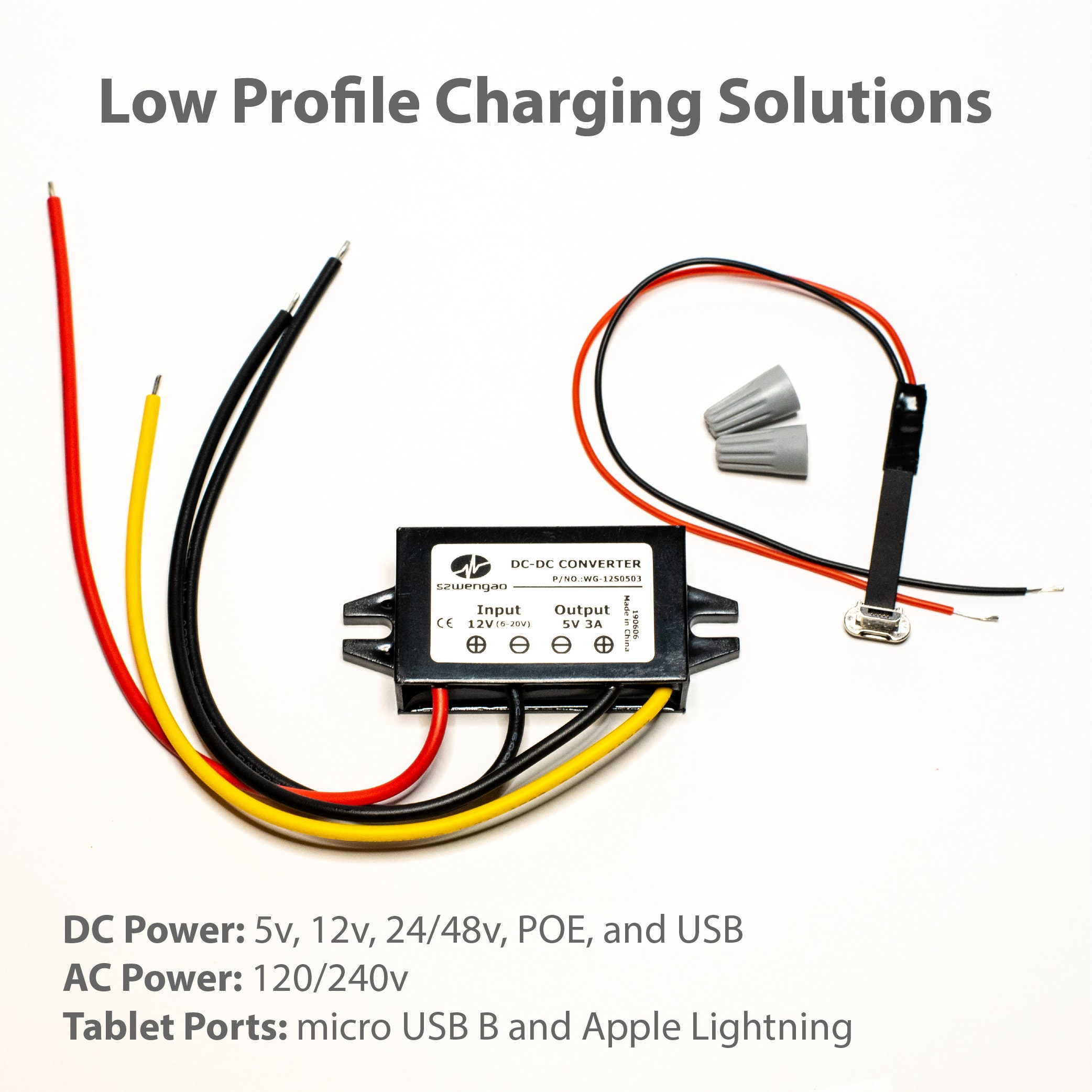 Low Profile Tablet Wall Charging Cable