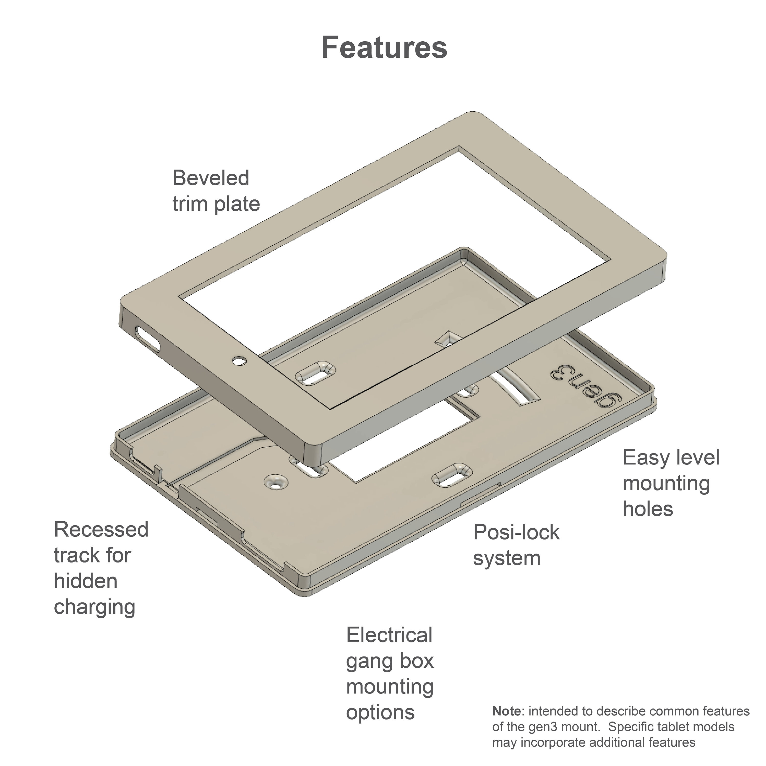 Amazon Fire 7 Tablet Wall Mount 7th Generation