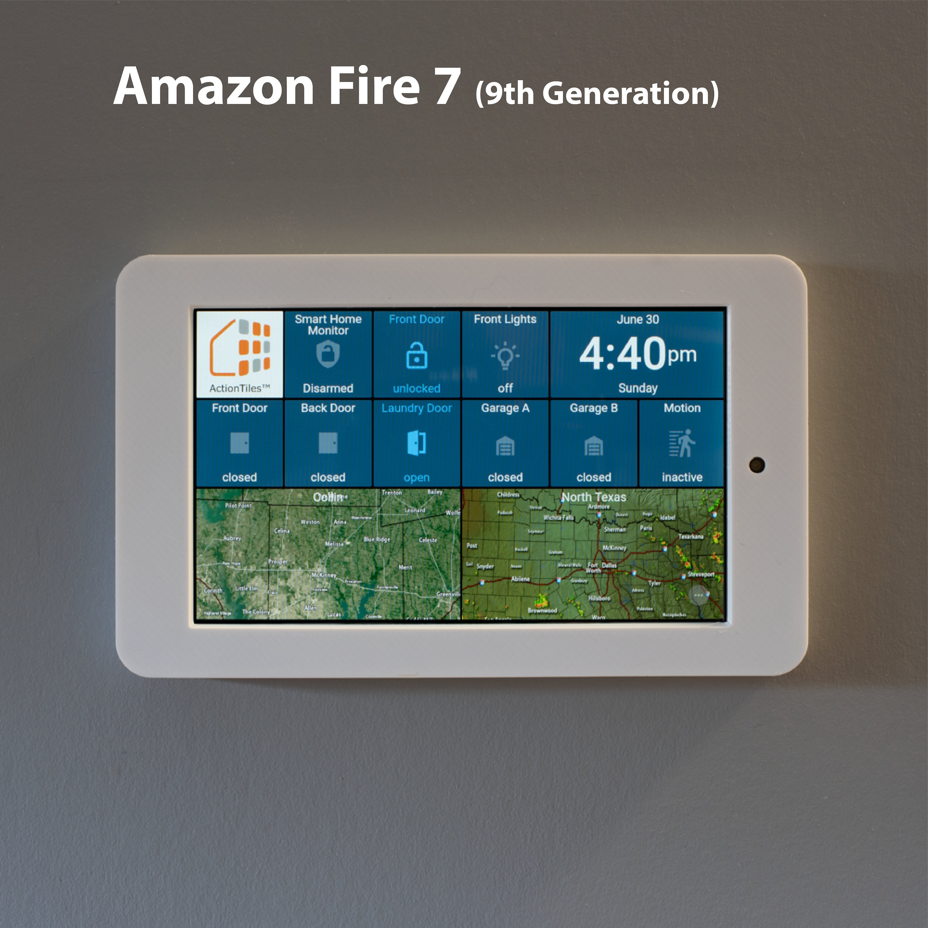 Amazon Fire 7 Tablet Wall Mount (new 9th generation