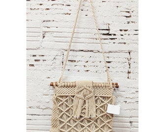 db464d23804 Vintage Purse, Woven macrame bag, retro, Boho Shoulder, summer, spring.  natural fibers knotted, 60s 70s, hippie Woodstock