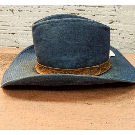 Amazing vintage hat denim western hat cowboy, cowg