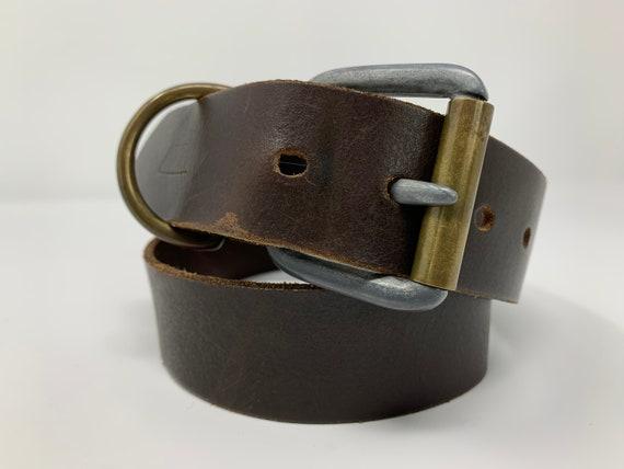 Vintage Italian Brown Leather Belt, Vintage Diesel