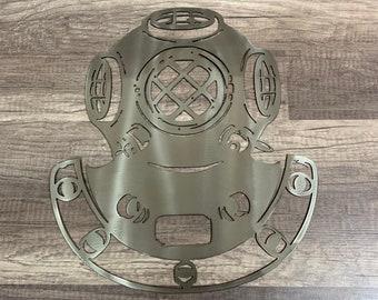 Sterling Silver Diver Signet Ring Divers Helmet Swimming Deep Sea Scuba Vintage Equiptment Aquatic Ocean Sea Astronaut Retro Old School