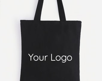 Custom Logo Cotton Canvas Tote, Branded Swag Bag, Event Favor Bag, Party Gift Bag, Eco-friendly Tote, Travel Tote, Packaging Bag