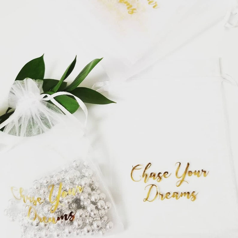 6.5 x 15 Personalized 10pcs- Organza Bags- Fabric Favour Bags Wine Bags Drawstring Pouch Mesh Favour Bag Wedding Gift Bag