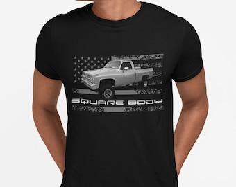 1987 Chevy K10 Silverado Square Body Vintage Pickup Truck Unisex Hoodie
