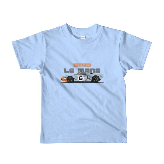 1968 Gulf Ford GT40 Race Car Toddler Short Sleeve Tee