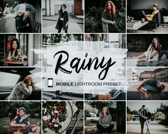 MOBILE Lightroom Preset, Rainy Preset, Gray Instagram Preset, Cold Moody  Blogger Preset, Photo Editing, Instant Download, DNG, Digital File