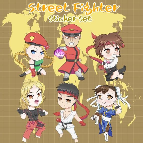 Chibi Anime Girl Sticker Sheet Various Cute Manga Illustrations Kawaii Stickers