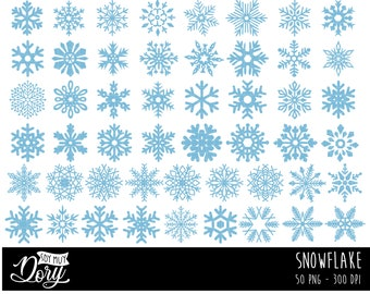 Free Snowflake Clip Art with No Background - ClipartKey