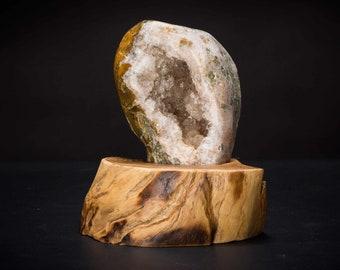 Teak Mounted Agate Geode