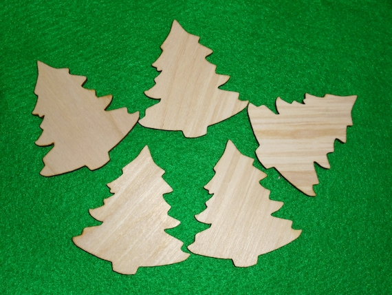 woodland x-mas 10x Wooden Christmas tree ornaments shapes decorations,