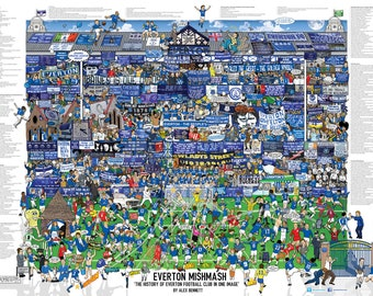 1102429ed6a Everton Mishmash - The history of Everton Football Club In One Image