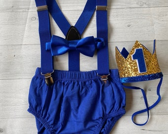 cake smash outfit boy light blue baby boy first birthday outfit diaper cover bow tie gray white 1st birthday hat suspenders