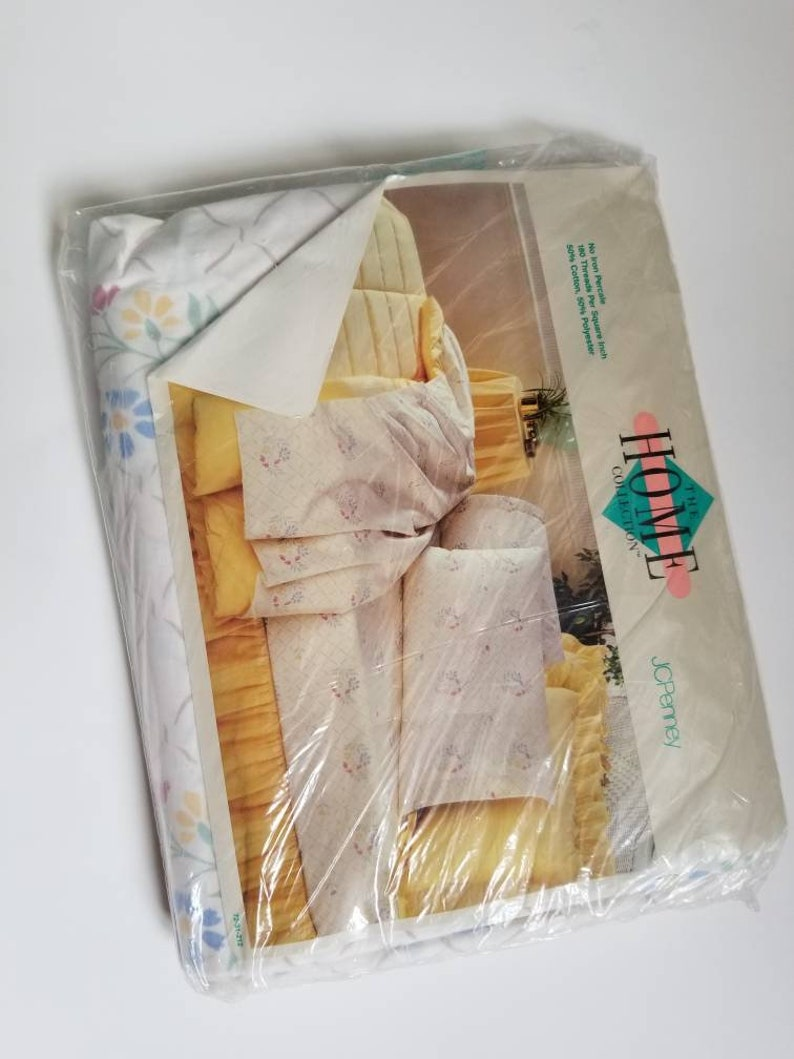 NEW Vintage Sheet Set New in package Full Fitted Sheet AND Full Flat Sheet