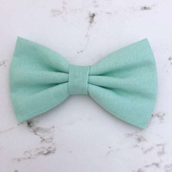Hunterfrewn bow tie Mint bow tie Teal bow tie Green wedding dog bow ties Dog wedding bow ties