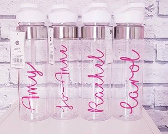 acaaf42022 Water Drink Bottle PERSONALISED Any Name added for Gym / Holiday / Everyday