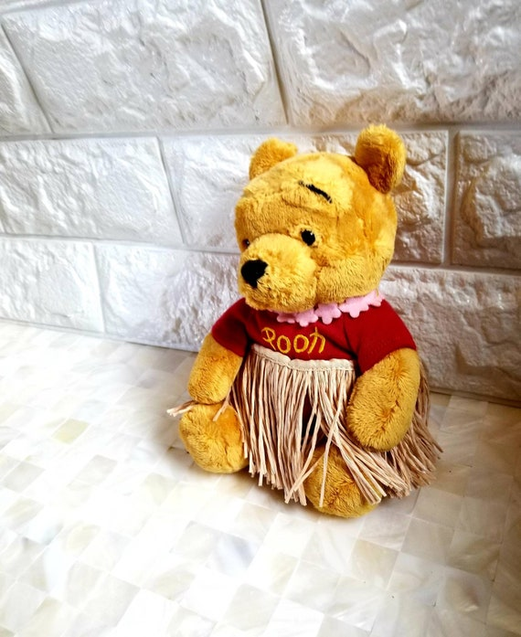 Outstanding Vtg Winnie The Pooh Bean Bag Plush Collectible Disney Store Hawaiian With Grass Skirt Ncnpc Chair Design For Home Ncnpcorg