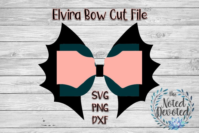 Bat Wing Cricut Elvira DXF Bow Template Silhouette Faux Leather Wing Bow png Bow Cut File Bow SVG Bow SVG File