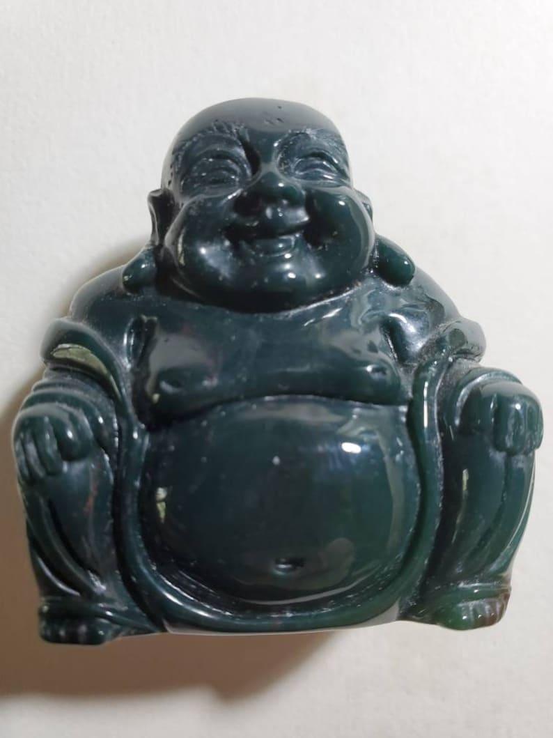 Bloodstone carved Buddha.