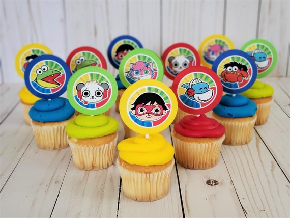 12pc RYANS WORLD CUPCAKE TOPPERS TOPPER CAKE PARTY DECORATION