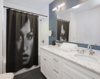 Amy WINEHOUSE SHOWER CURTAINS Dot Face Art Home Decor Bathroom Rockn Roll Shower Curtains Rock Celebrity Girls