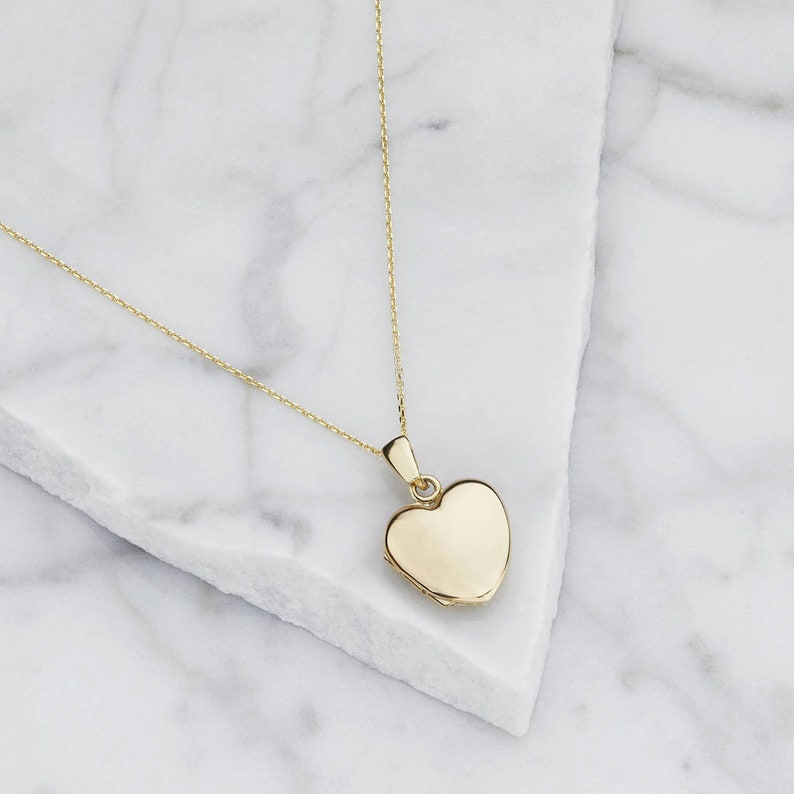 Mother of the Bride and Mother of the Groom Gold Heart Locket Necklace Anniversary Gift Gift for Her Bridesmaids Necklace