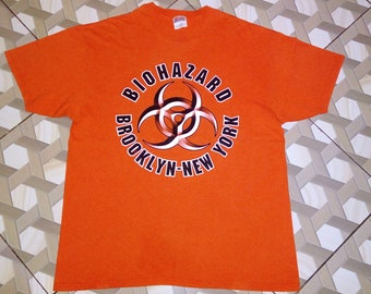 eea4b04e1b37 Vintage Biohazard T shirt Sick Of It All Agnostic Front Madball Leeway  Cromags