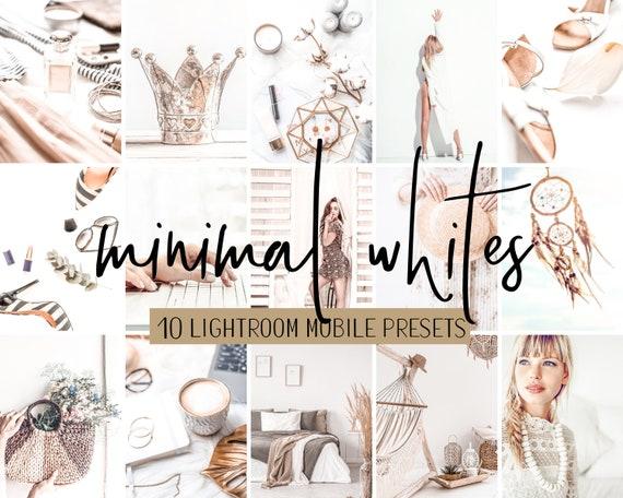 Minimal Grey Silver Lightroom Mobile /& Desktop Presets for Fashion Bloggers and Influencers DNGXMP Files Platinum Black 1-10 Lifestyle