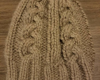 f85be95fd5b Beige Cable Knit Hat