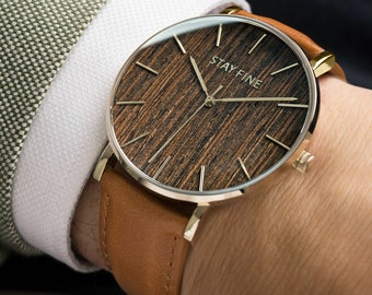 1e45fcc37d Wood Watch Engraved for Men