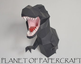 T-Rex Skull Free Papercraft Download | Paper crafts, Origami paper ... | 270x340