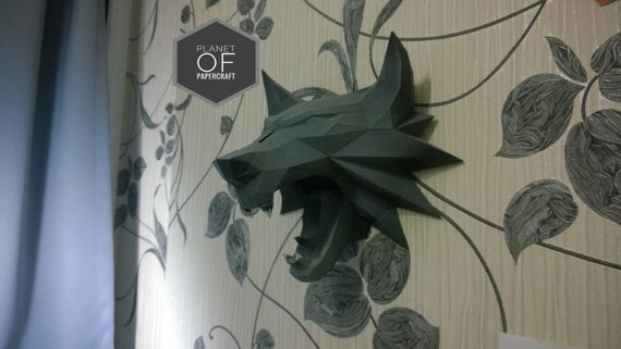 Wolf Papercraft Paper Model Diy 3d Wolf Paper Craft Origami Etsy