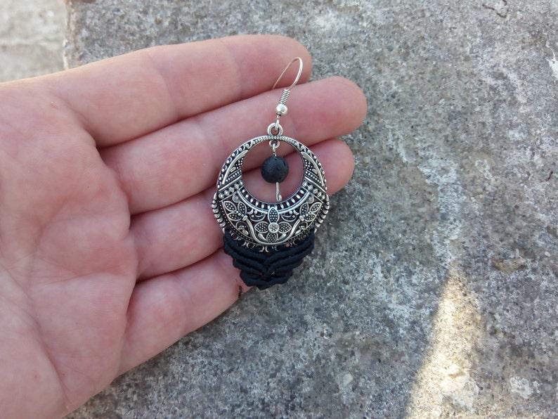 Macrame jewelry. Women jewelry Gift for her Handmade boho earrings Macrame earrings Elegant earrings
