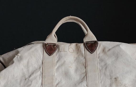 Vintage american MT HOOD COLLEGE white canvas bag - image 7