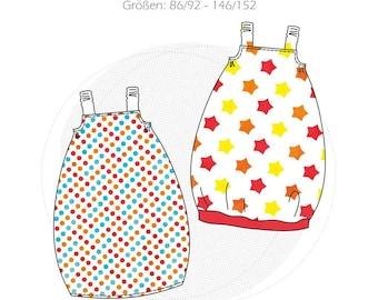 "Paper cut pattern children's strap dress ""Madita"", summer dress, child sweat dress, balloon dress sewing novice"