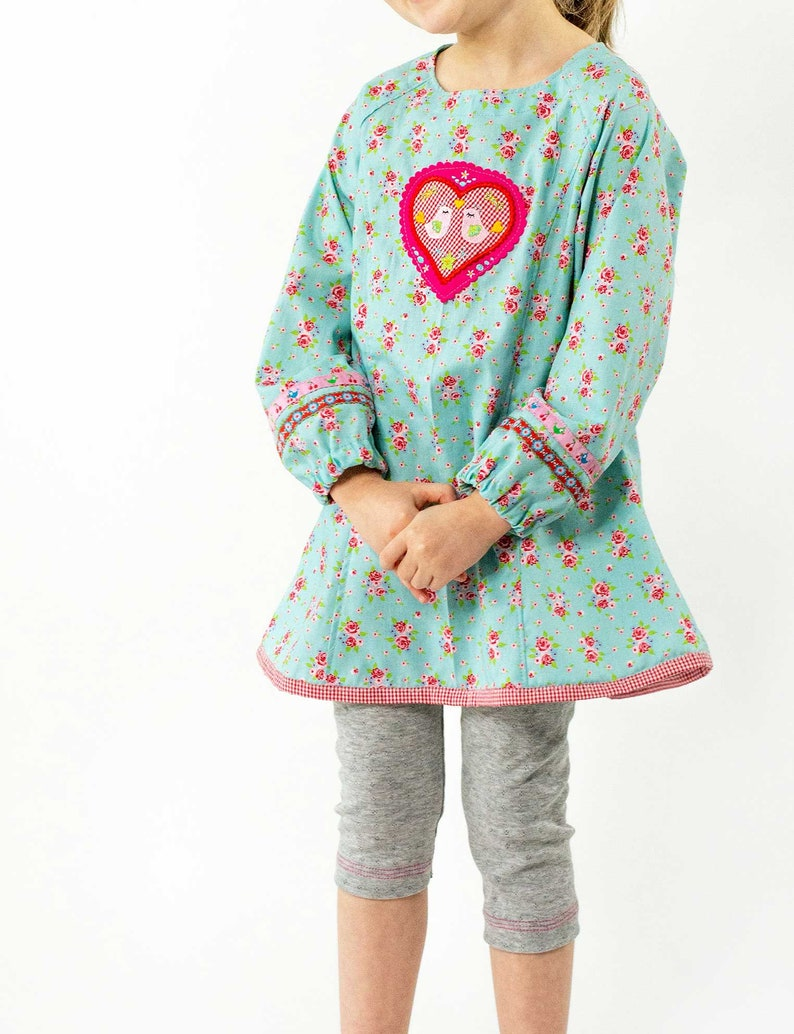 tunic Roxy girl blouse size 8692-146152 with online sewing instructions Paper cut pattern summer dress
