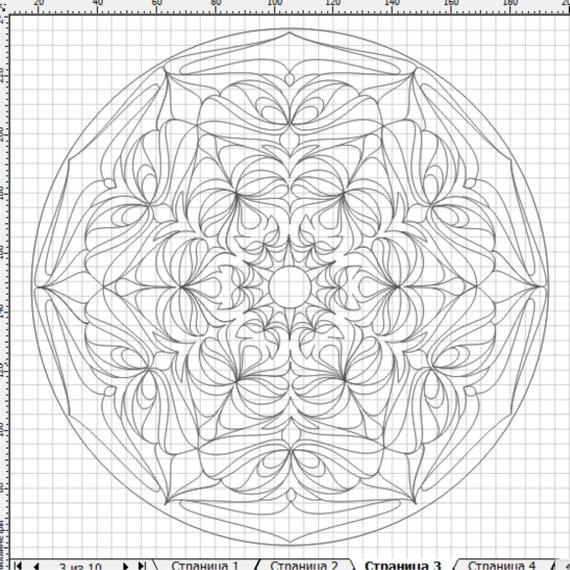 Mandala 024, adult coloring page, floral mandala, flower mandala coloring page