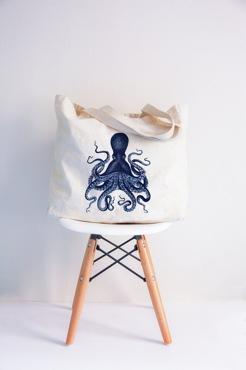 Octopus XL Summer tote bag