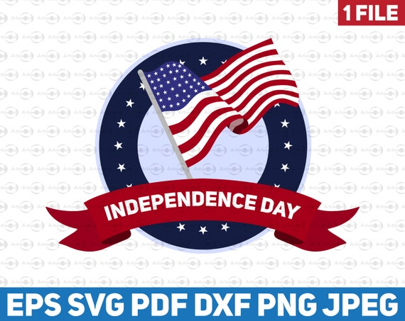 Free Independence Day Us Flag Symbol Vector American Flag 4th Etsy
